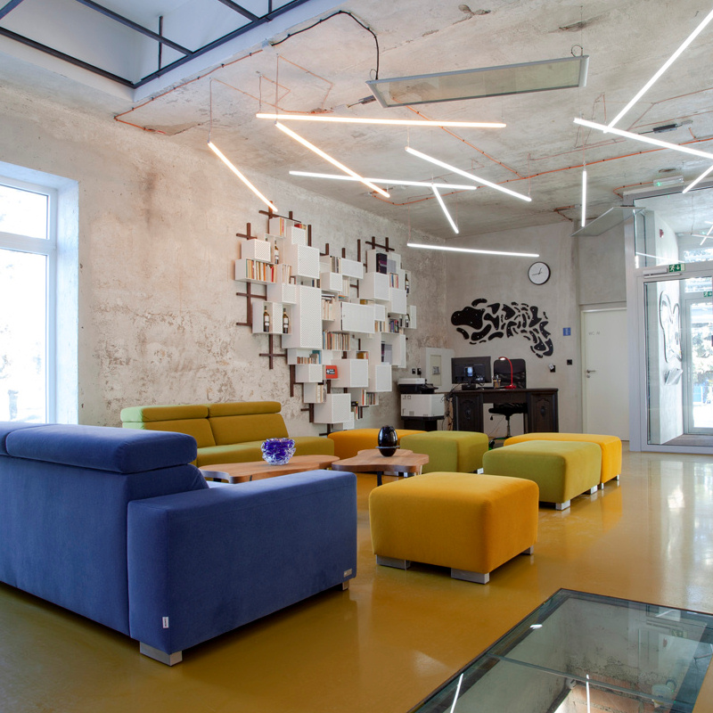 Co-working space for long-term accommodation